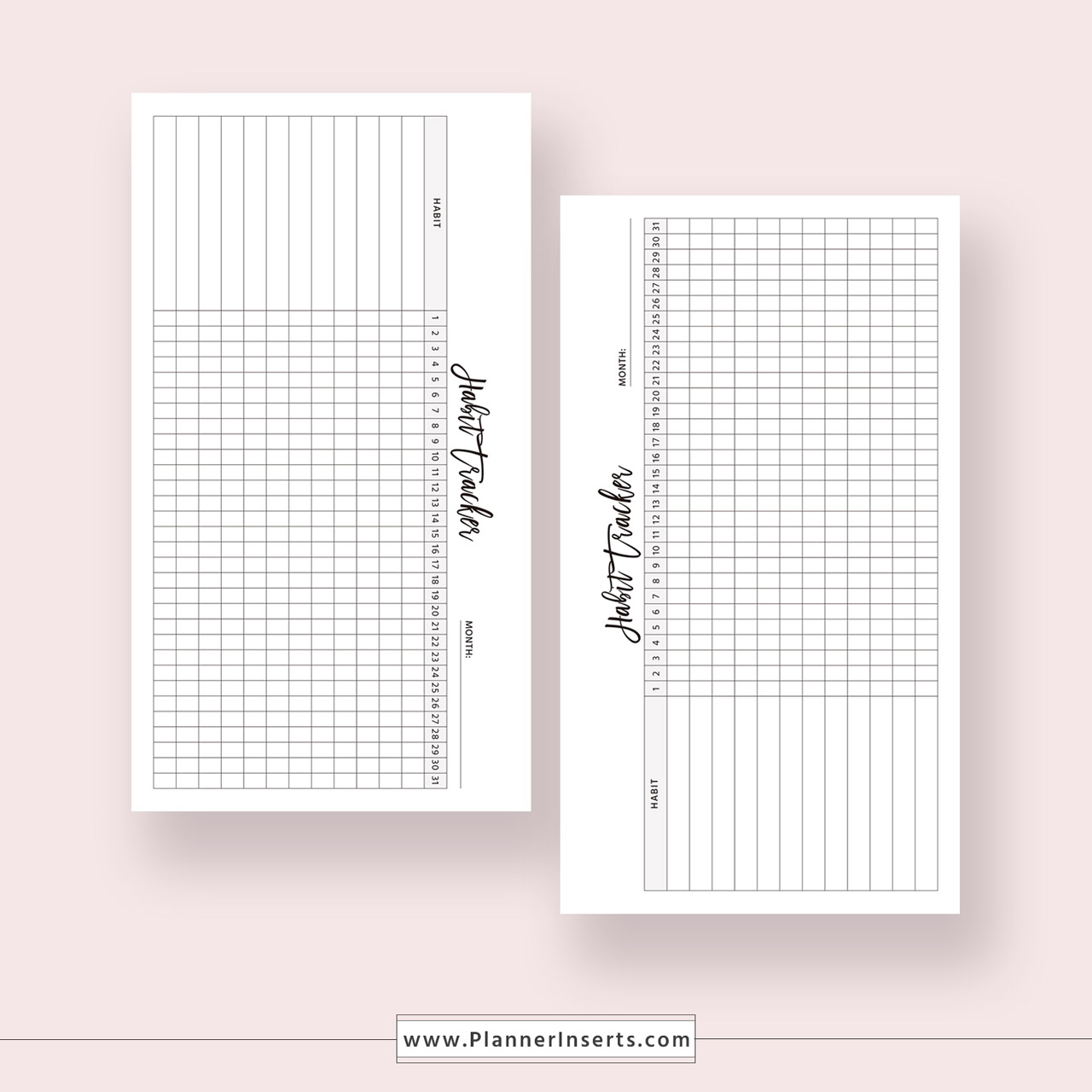 photograph about Habit Tracker Printable identify Month to month Practice Tracker for Limitless Fast Down load - Electronic Printable Planner Inserts within .PDF Layout - Particular person Dimension - 30 Working day Behavior, Routine Planner