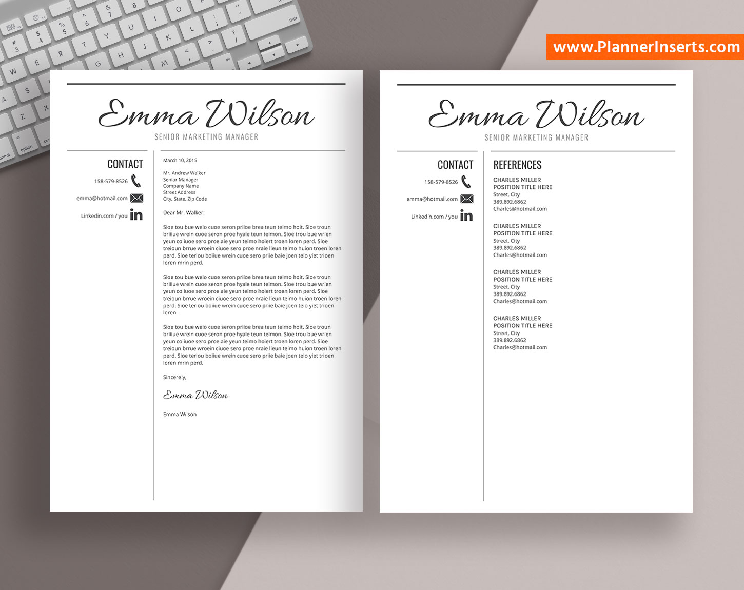 professional resume template word  simple cv template