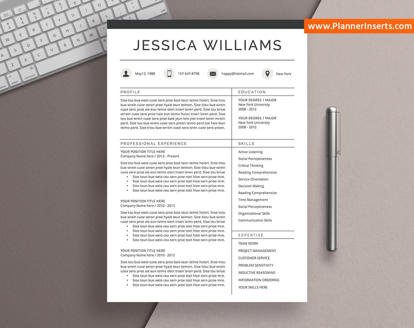 professional cv template for word  cover letter