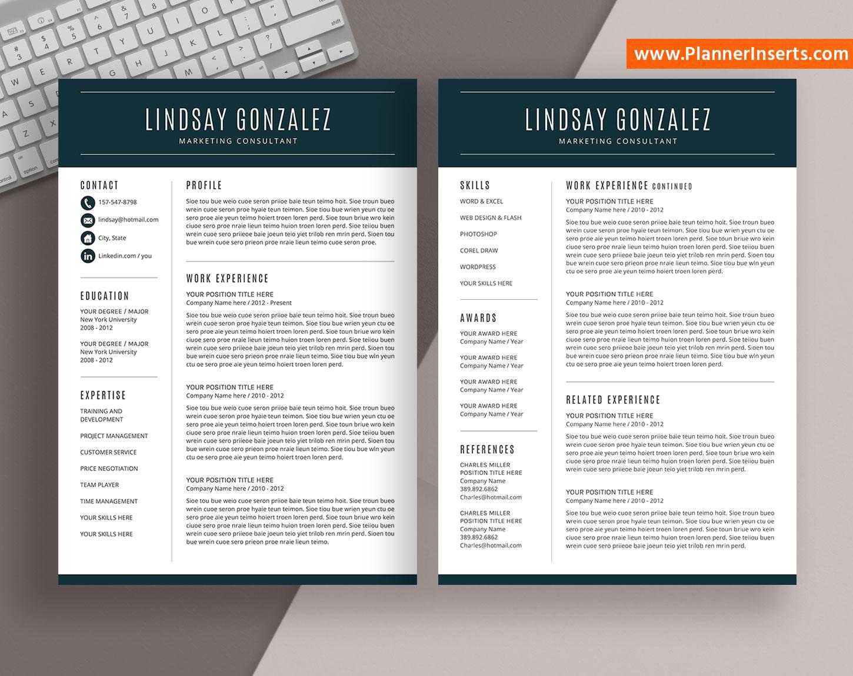 job cv template  professional curriculum vitae  cover