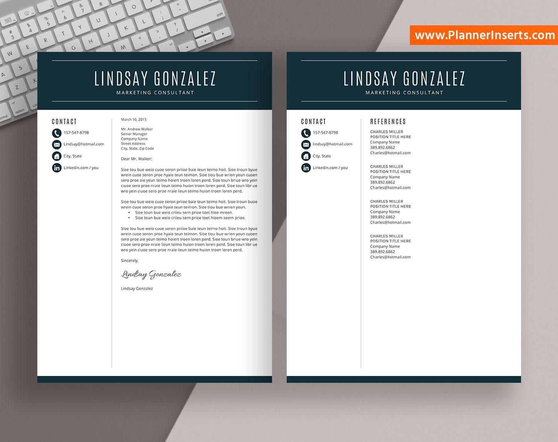 job resume template  cover letter  office word resume