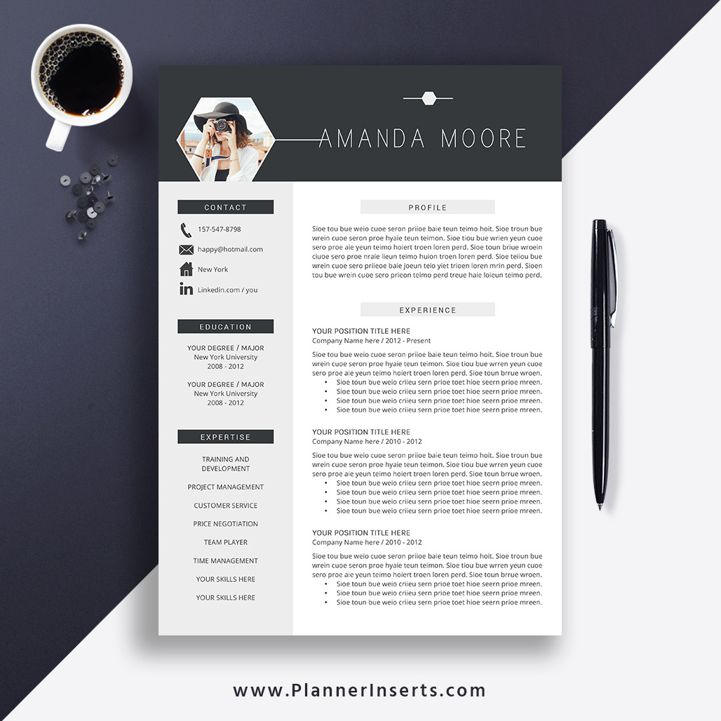 Best Resume Template 2019 Cover Letter Office Word Resume Cv Template Editable Resume Simple Professional Resume Instant Download Amanda