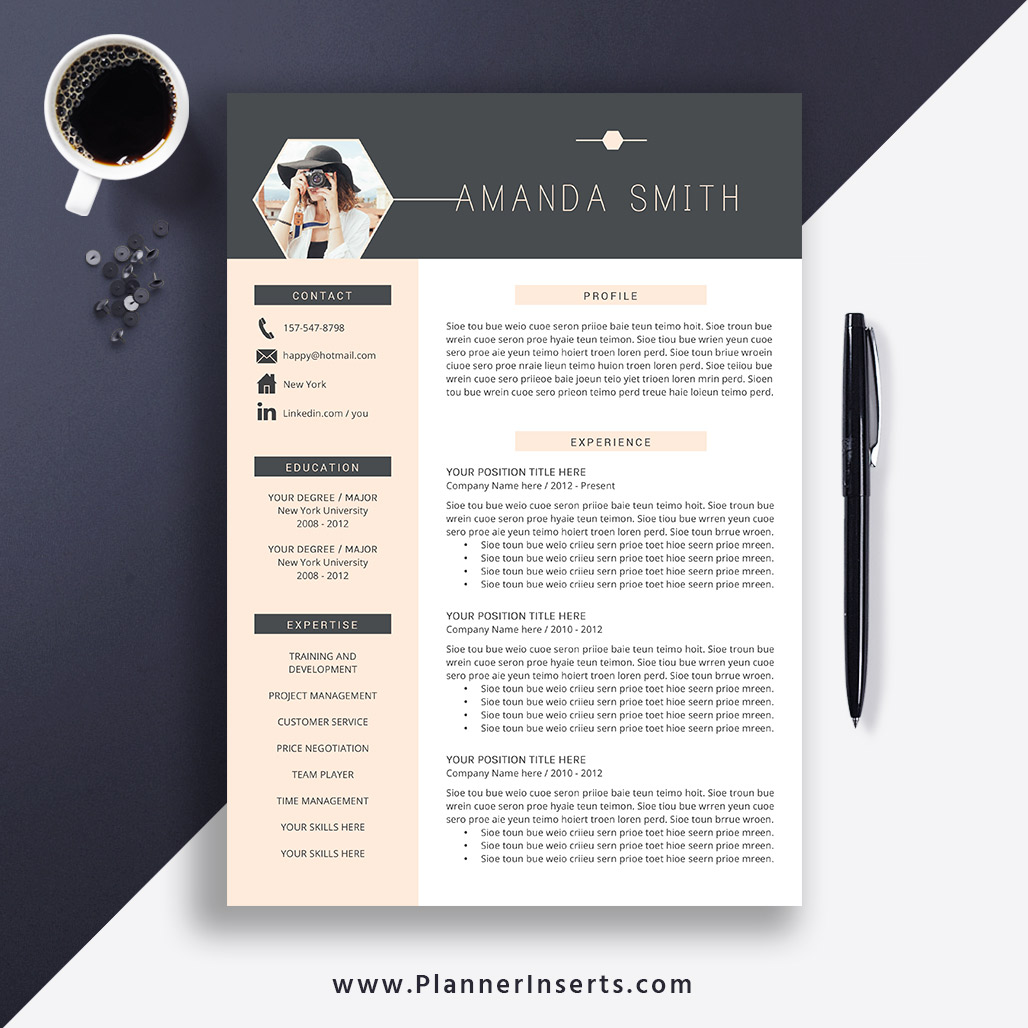 Best Resume Template 2019, Cover Letter, Office Word Resume, CV Template,  Editable Resume, Simple & Professional Resume, Instant Download: Amanda S  ...