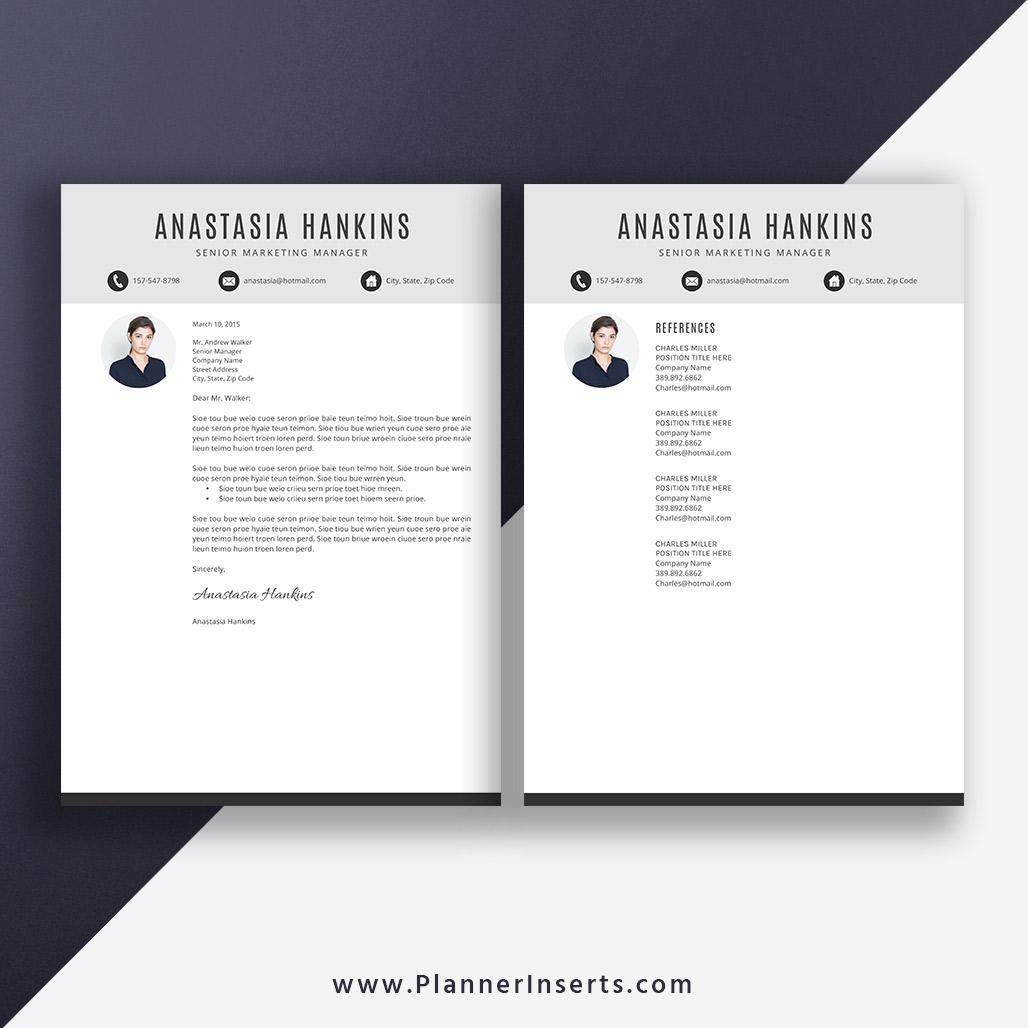 simple resume template word  cover letter  basic cv