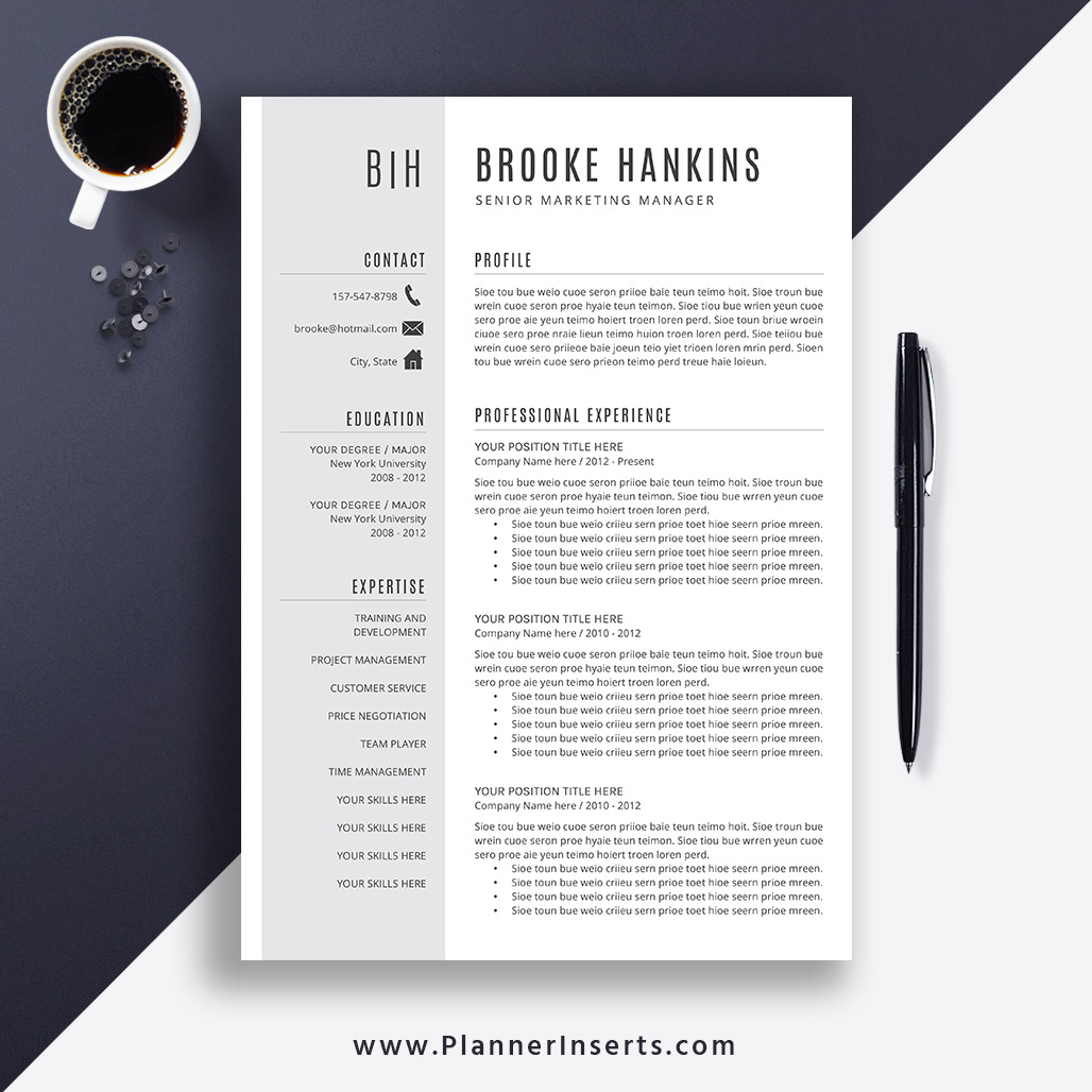Simple And Professional CV Template, Curriculum Vitae