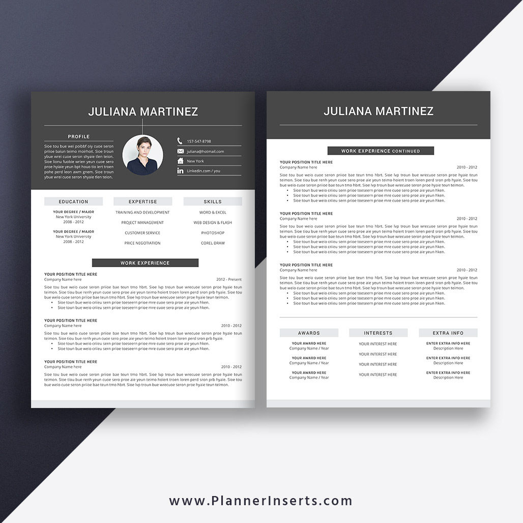 professional and creative cv template for word  cover
