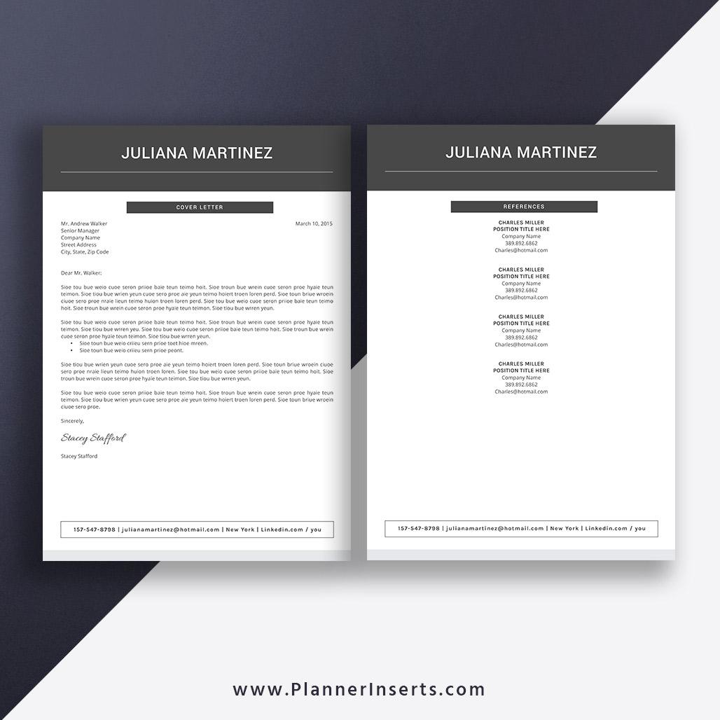 2020 Professional Resume Template, Digital Instant