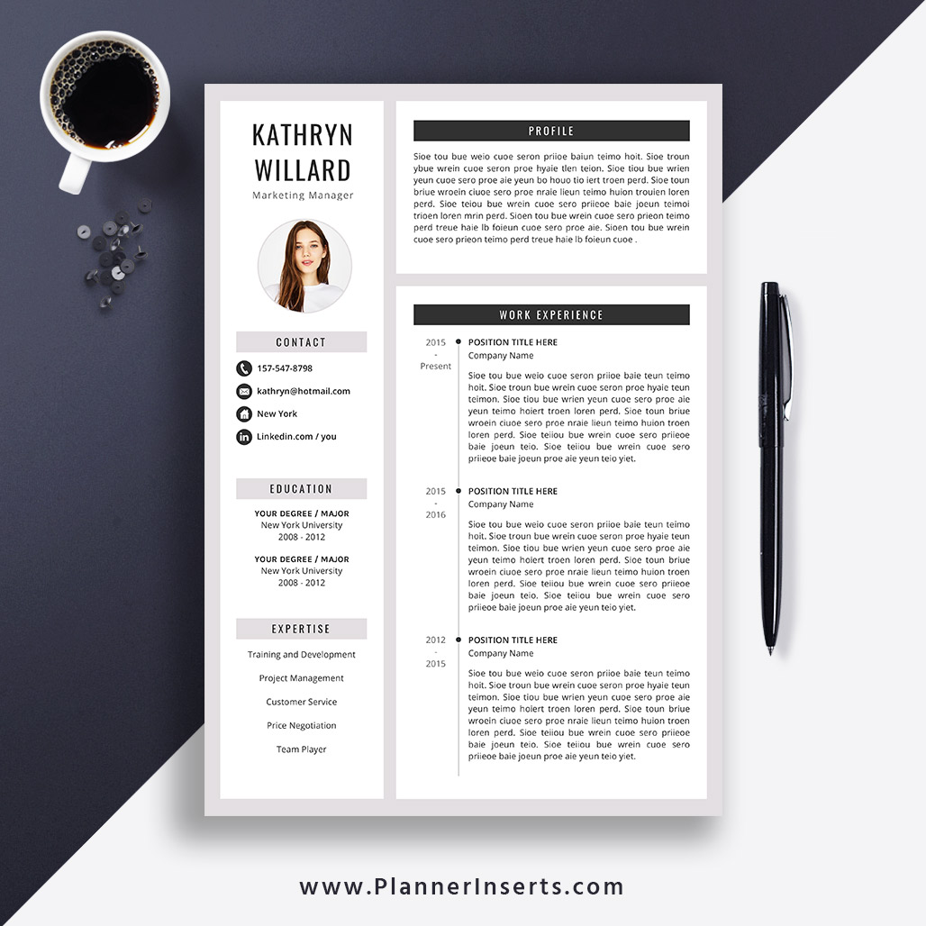 creative resume template  cover letter  office word resume