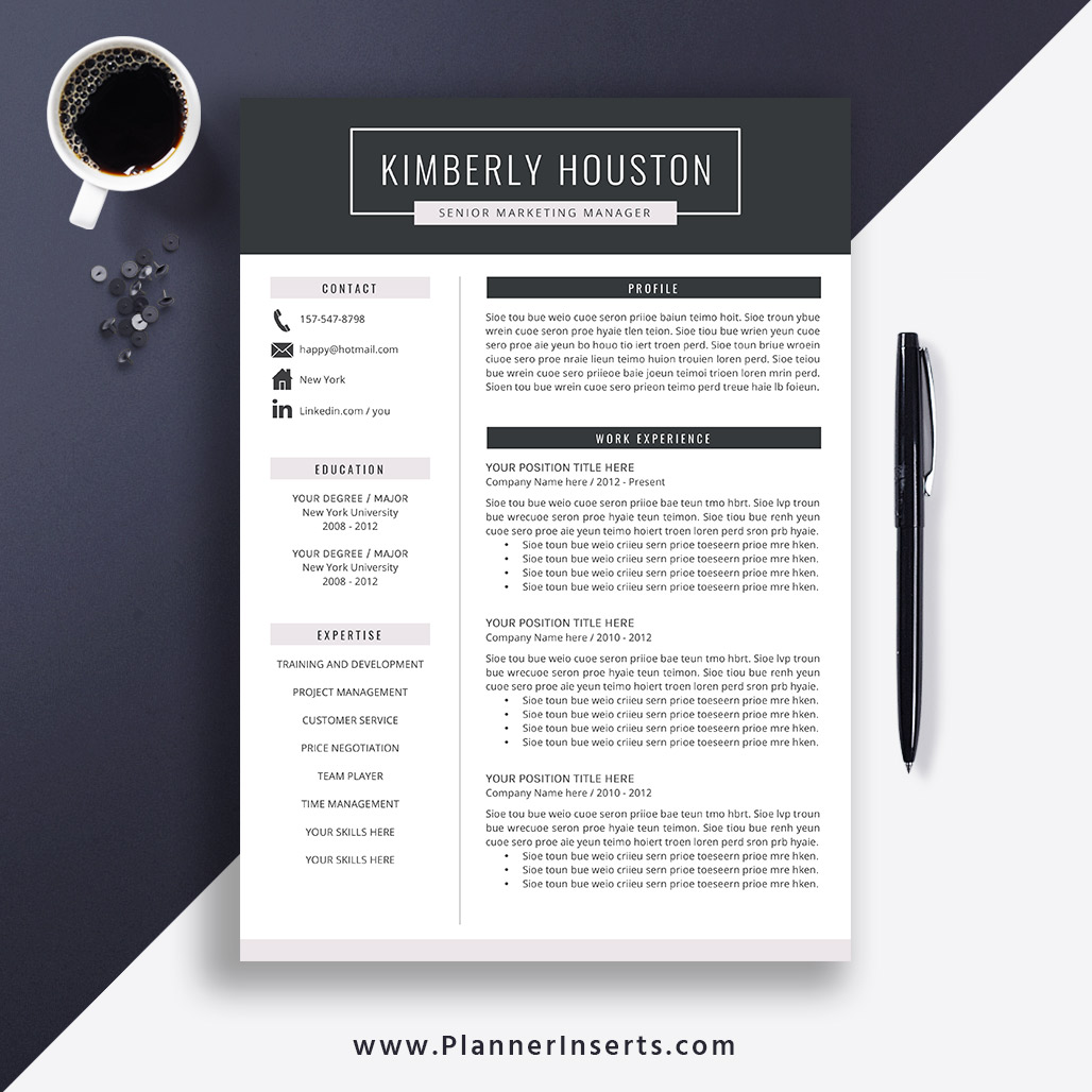 Best Resume Template 2019 Cover Letter Office Word Resume Cv Template Editable Resume Simple Professional Resume Instant Download Kimberly
