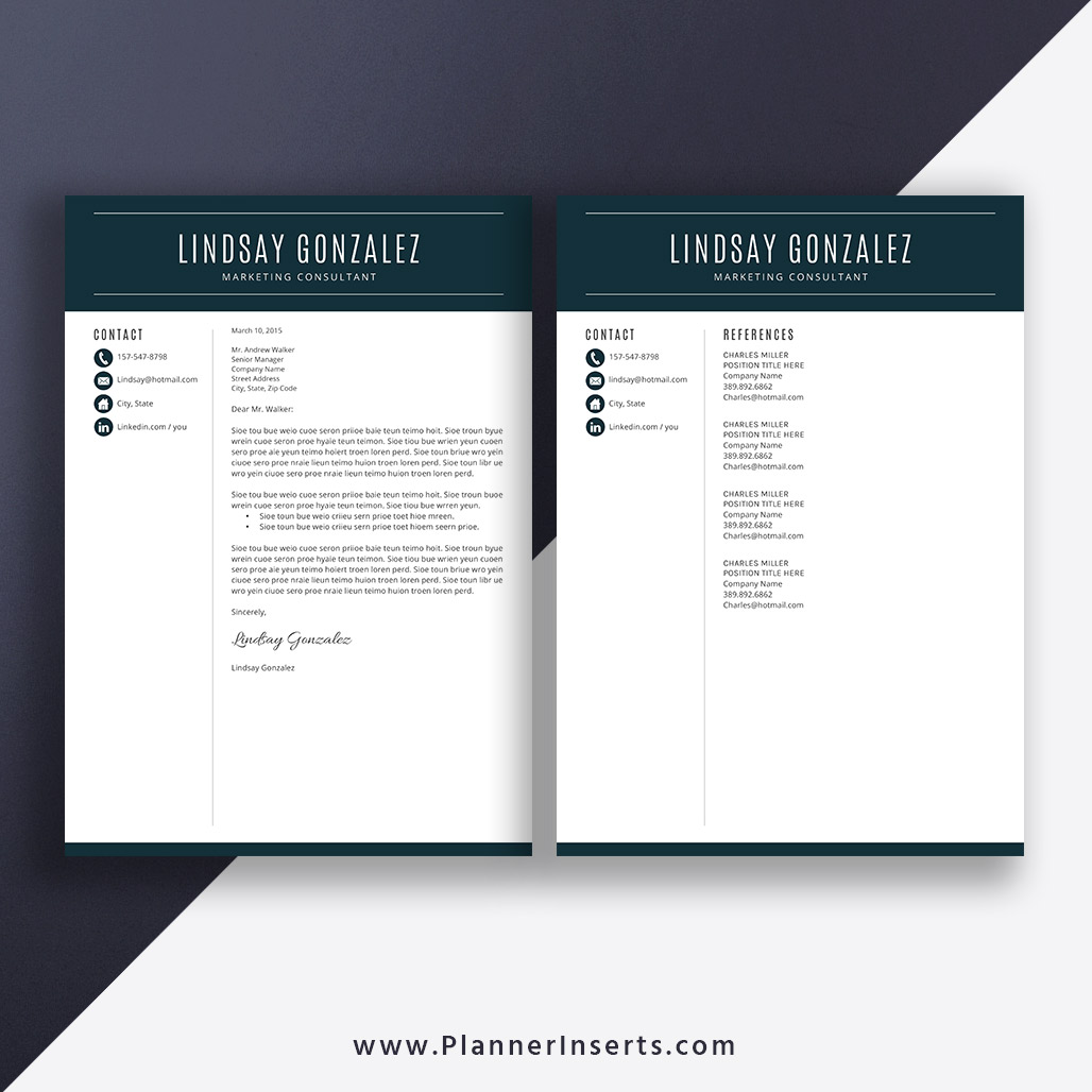 Job Resume Template, Cover Letter, Office Word Resume