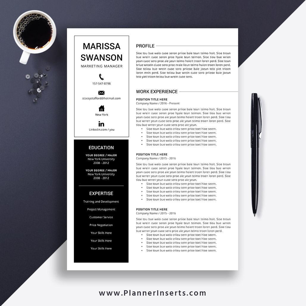 Professional Clean Resume Template 2019 Cover Letter Office Word Resume Simple Cv Template Creative Modern Resume Instant Download Marissa