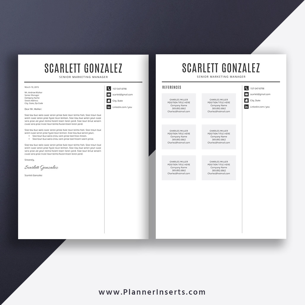 professional  u0026 clean resume template  cover letter  office