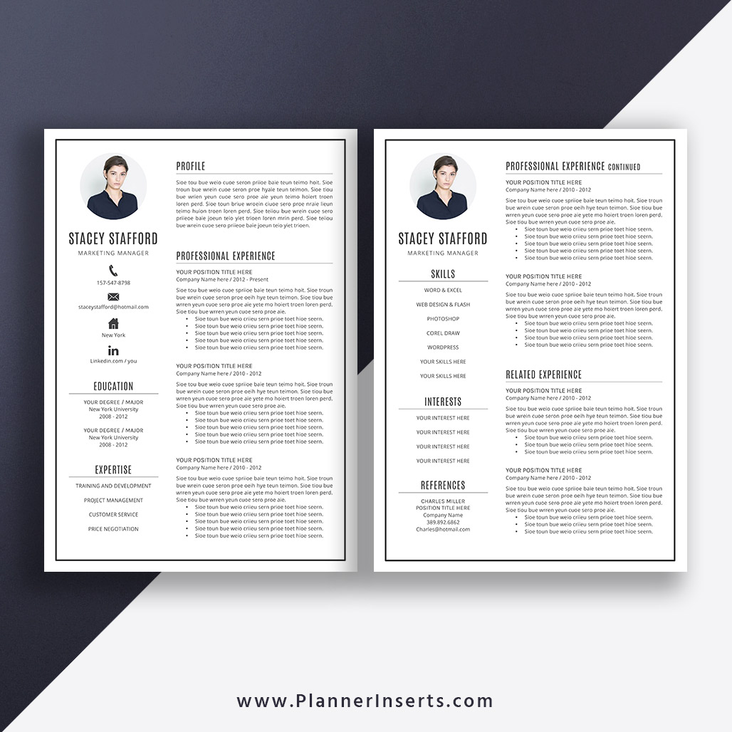 Editable Professional Resume Template 2019, Cover Letter