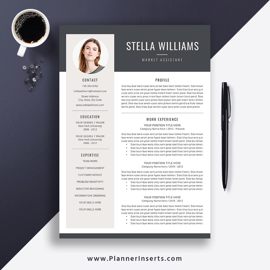 Best Resume Templates 2020.Best Resume Template 2019 Cover Letter Office Word Resume Cv Template Editable Resume Simple Professional Resume Instant Download Stella