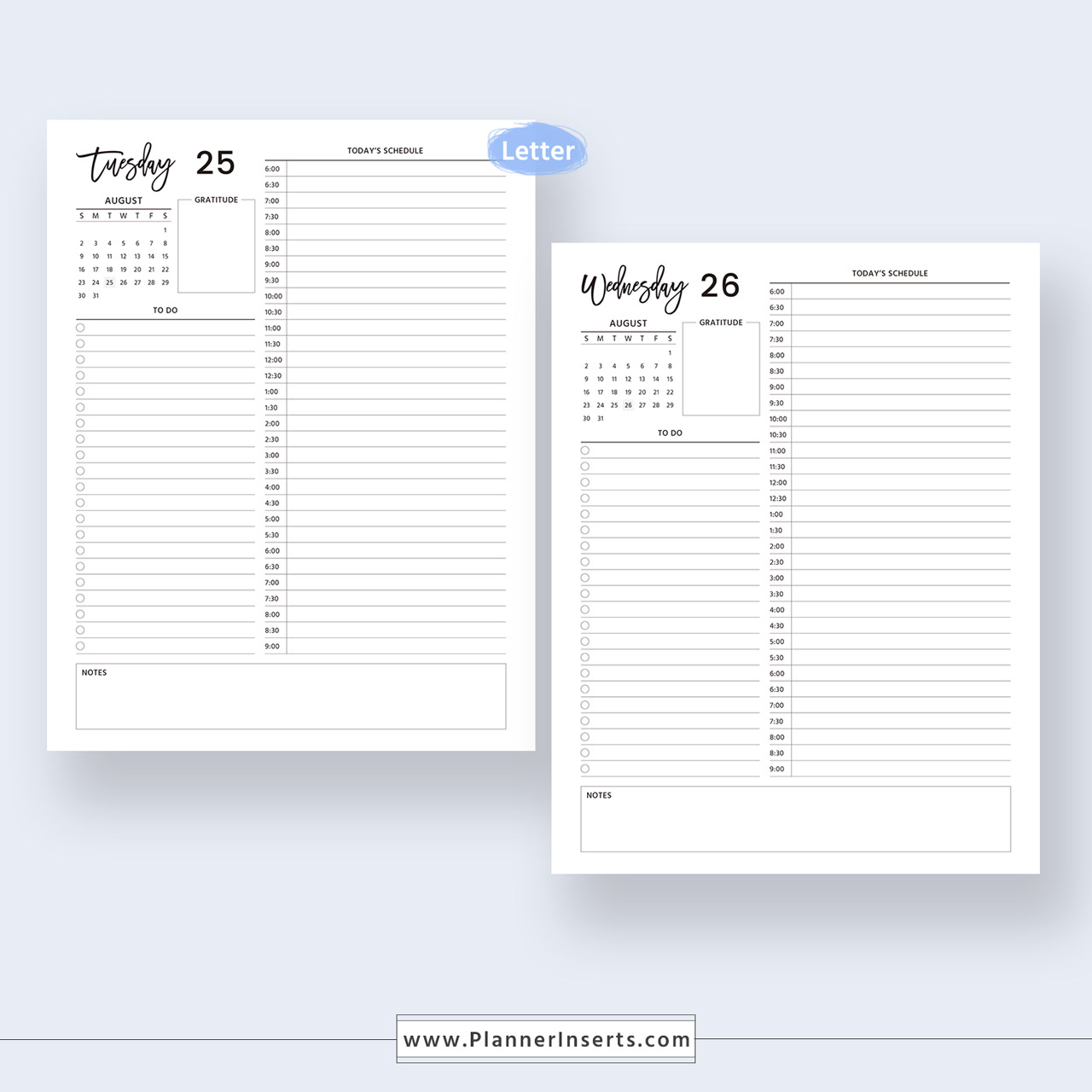 image regarding Digital Day Planner identified as 2019-2020 Dated Everyday Planner for Countless Fast Down load Electronic Printable Planner Inserts in just .PDF Layout A4 Letter Sizing Day by day Organizer,