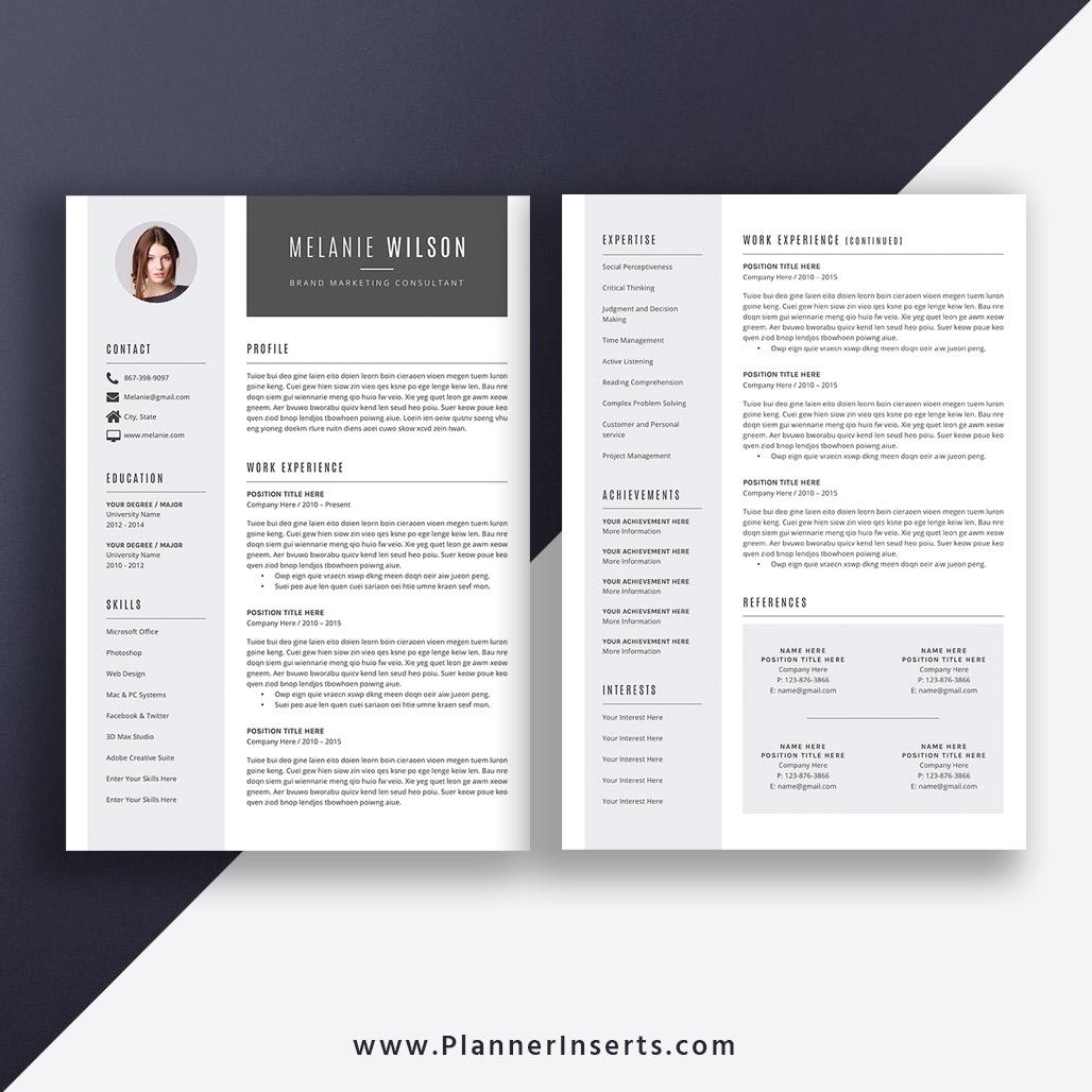 Elegant & Creative Resume Template 2020, Modern CV Template, Cover Letter,  Word Resume, 1-3 Page, Editable Resume, Top Selling Resume, Job Winning ...