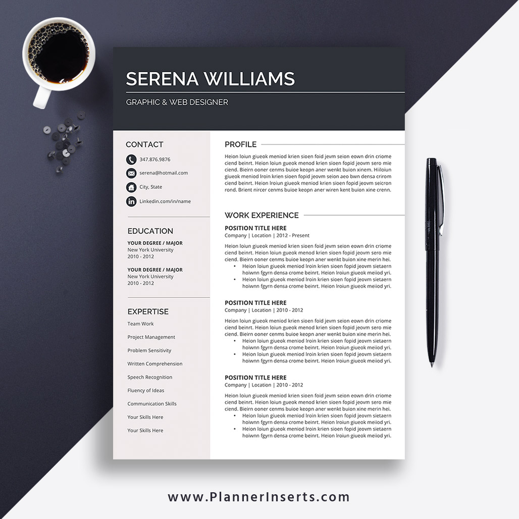 Resume Template for Word 2020, Simple CV Template, Professional CV  Template, Creative CV Template, Cover Letter, 1-3 Page Resume, Resume for  Instant ...