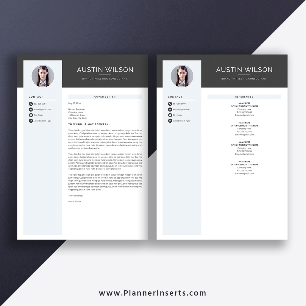 2020 Elegant & Creative Resume Template, Modern CV Template, Cover Letter,  Word Resume, 1-3 Page, Editable Resume, Top Selling Resume, Job Winning ...