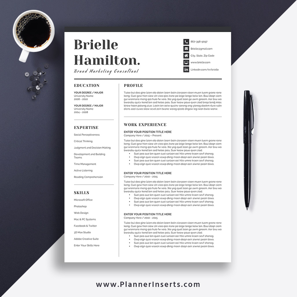 2020 Unique Resume Template, Professional CV Template, Cover Letter, Modern  & Creative Resume, Best Selling Resume, Word Resume, Job Winning Resume