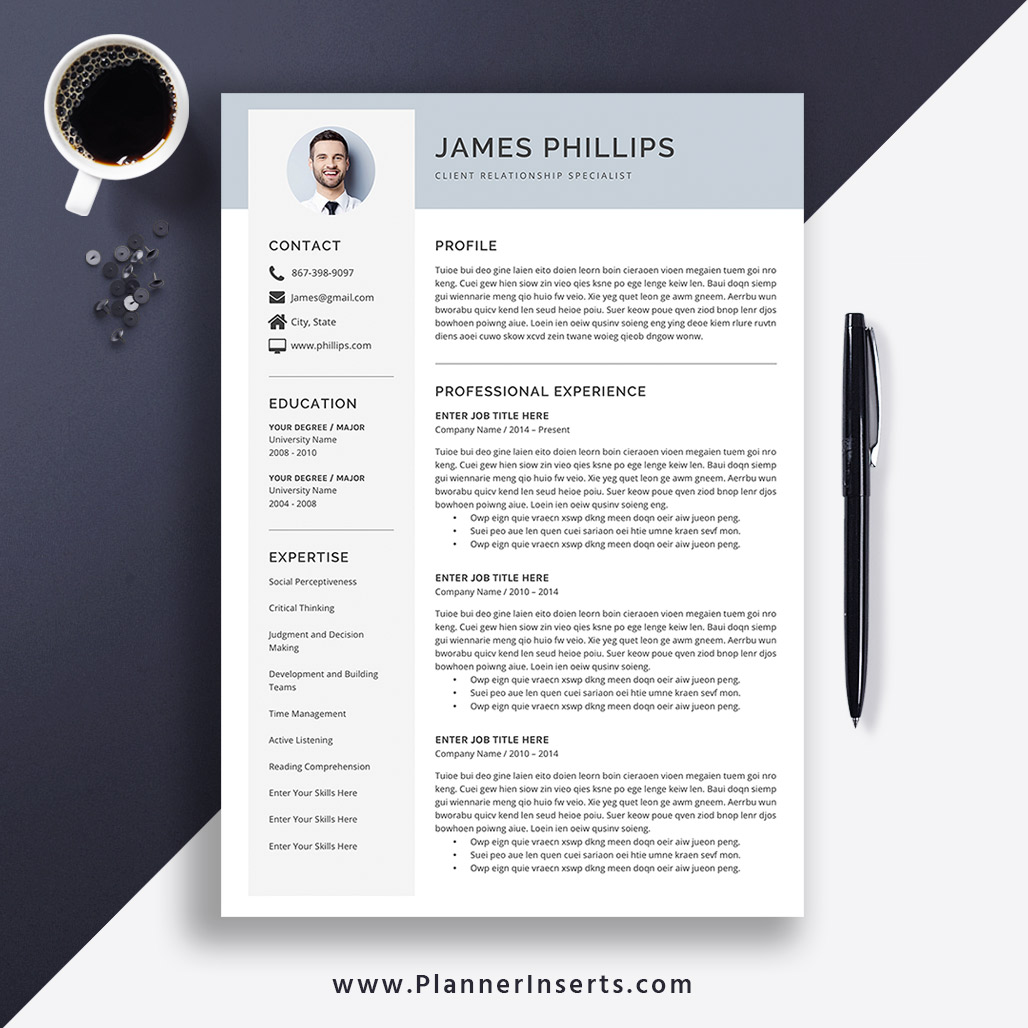 2020 Resume Template for MS Word, Simple & Clean CV Template, Cover Letter,  Minimalist Resume Design, 1-3 Page, Editable Resume, Resume for Instant ...