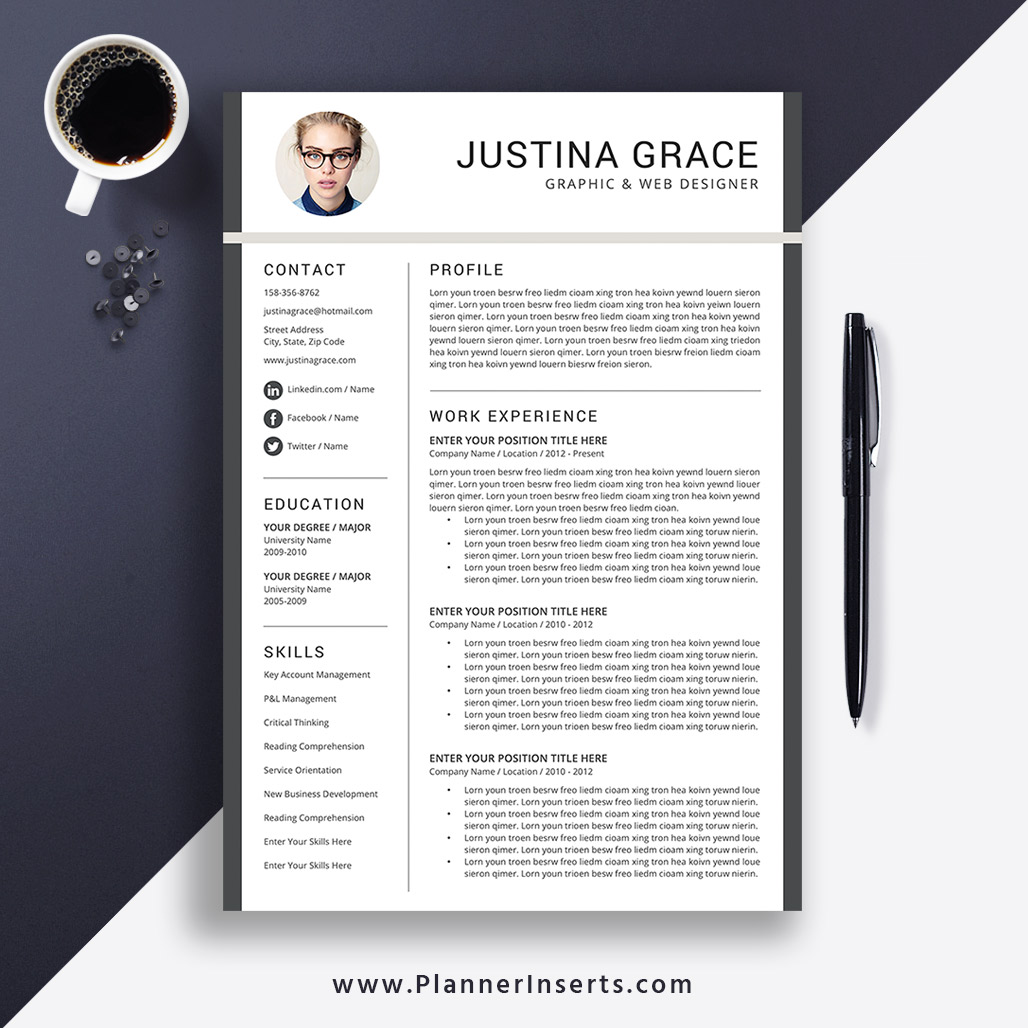 Resume Template Word 2020, Professional CV Template, Cover Letter, Modern &  Unique Resume, Student Resume, Fresh Graduate Resume, Internship Resume