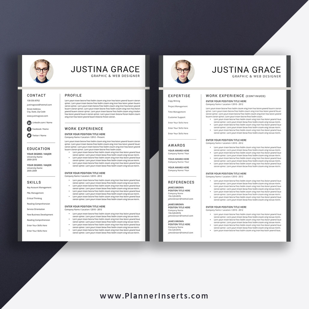 professional cv template word  creative cv format  cover