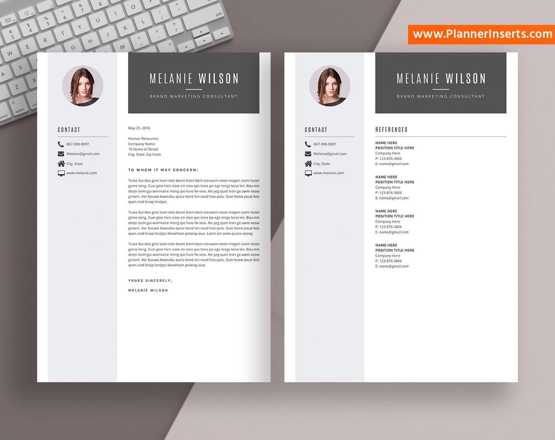 modern resume bundle  curriculum vitae  simple cv templates word  professional resume templates