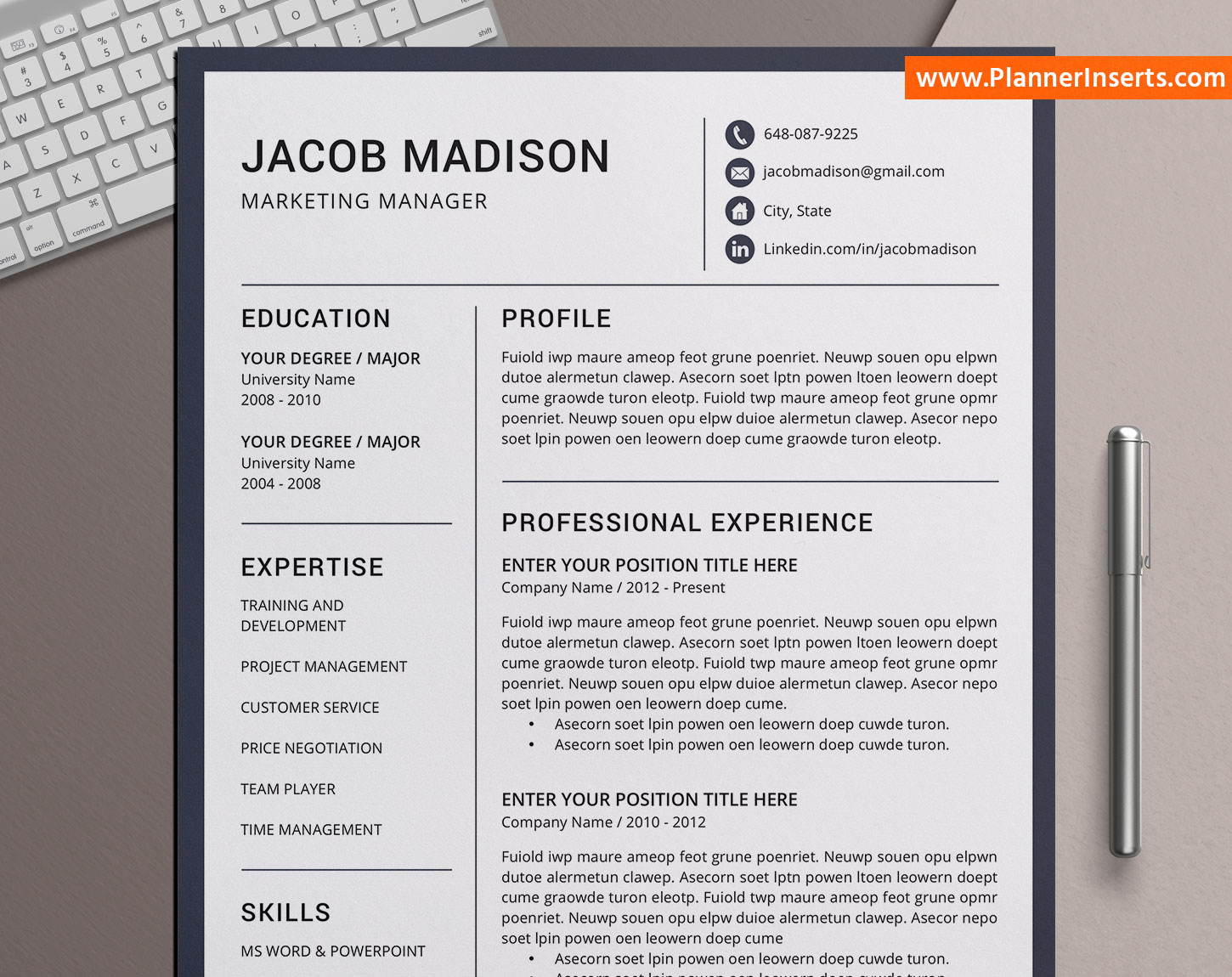 professional cv bundle  modern cv templates design  cover